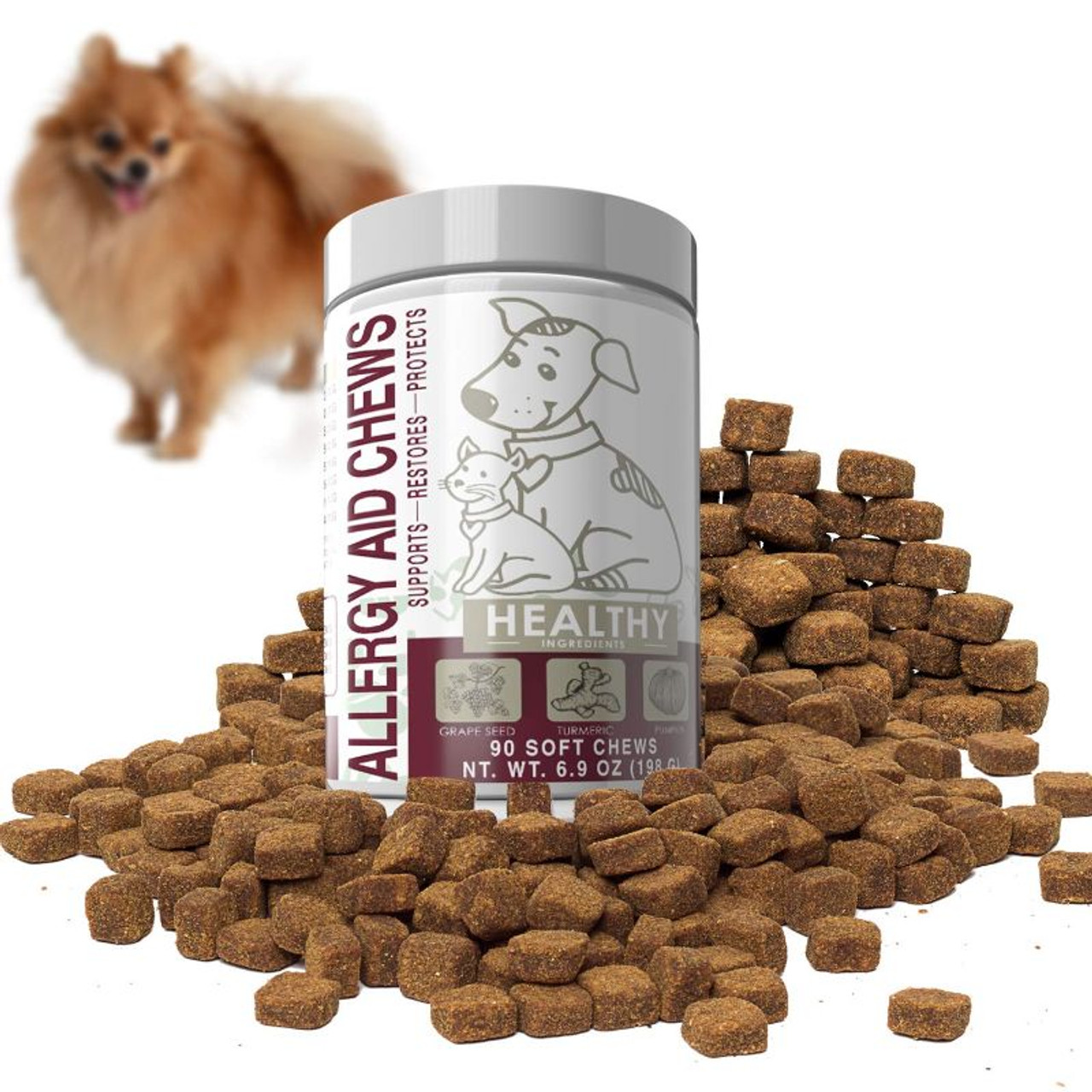 Allergy Aid Chews for Dogs and Cats - 90 Count
