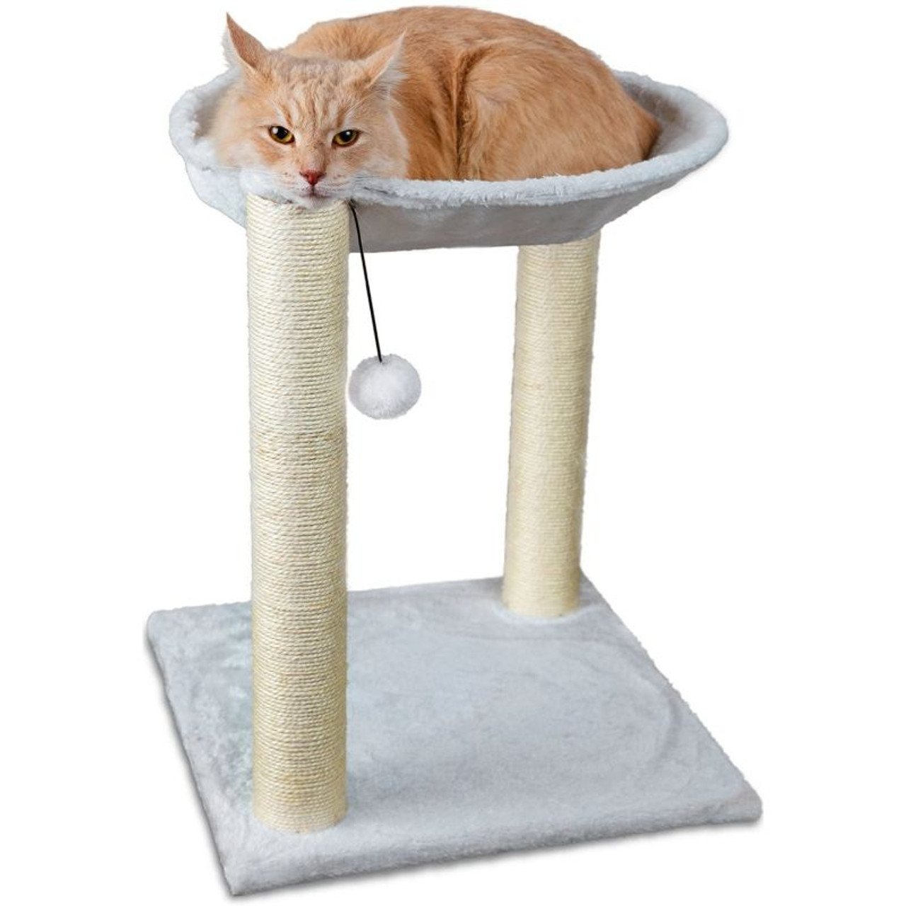3-in-1 Cat Scratching Post With Hammock & Toy - Tall