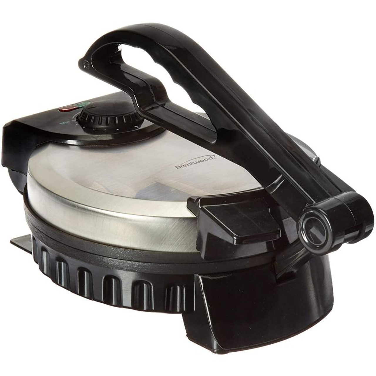 Brentwood Stainless Steel Non-Stick Electric Tortilla Maker, 8-Inch