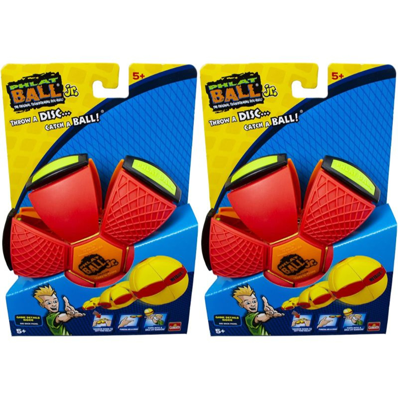 Goliath Sports Phlat Ball Jr Orange or Red - 1 or 2 Pack