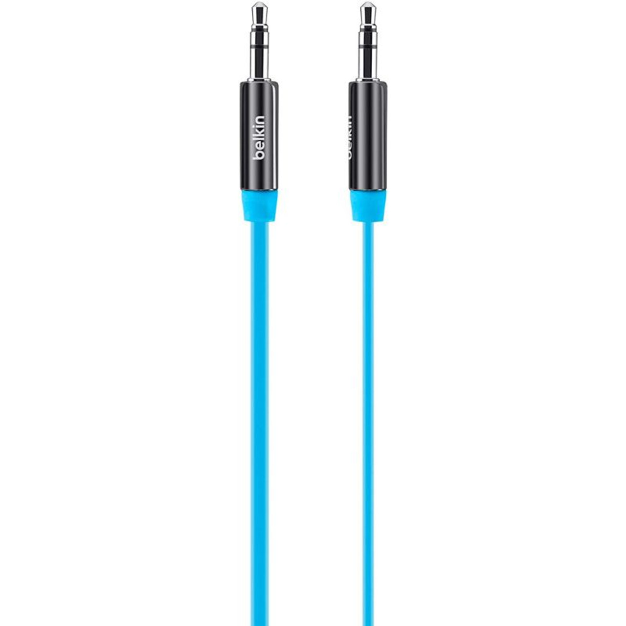 Belkin MiXiT Tangle-Free Aux, Auxiliary Cable, 3 Feet - Blue