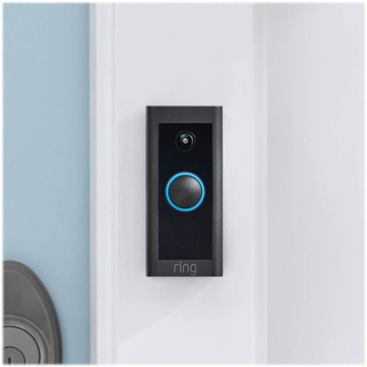 Ring Wired Wi-Fi Video Doorbell - Black