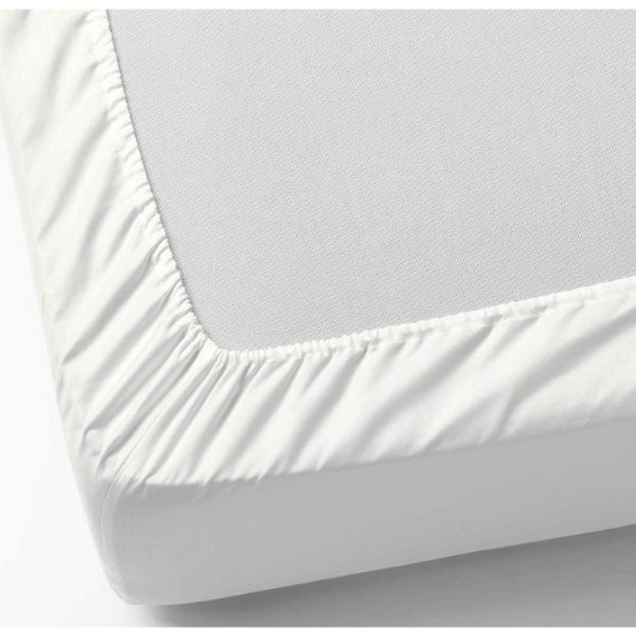 Quilted Fitted Mattress Pad/Topper - White