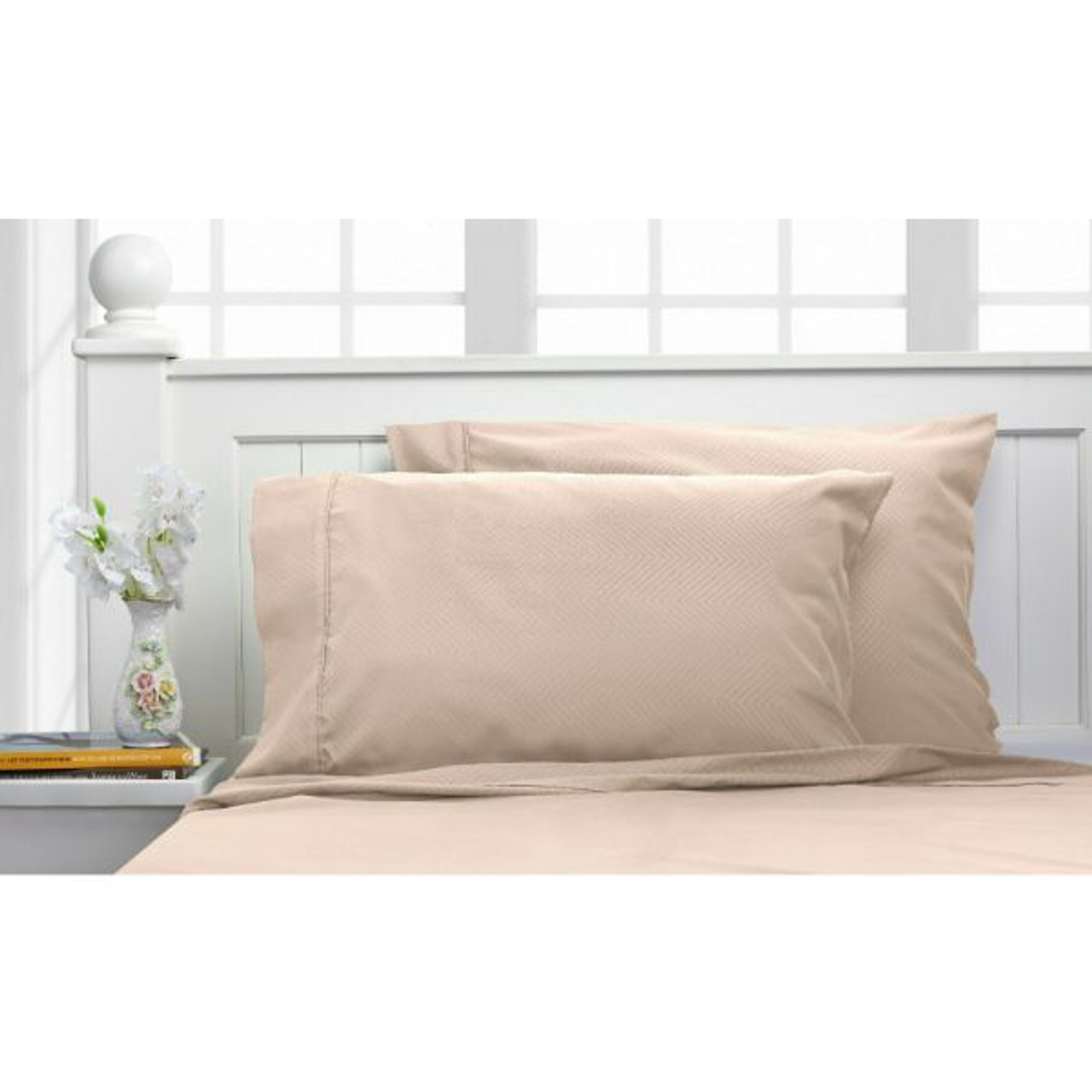 Bamboo 1800 Count Chevron Embossed Ultra Soft 4-Piece Sheet Set