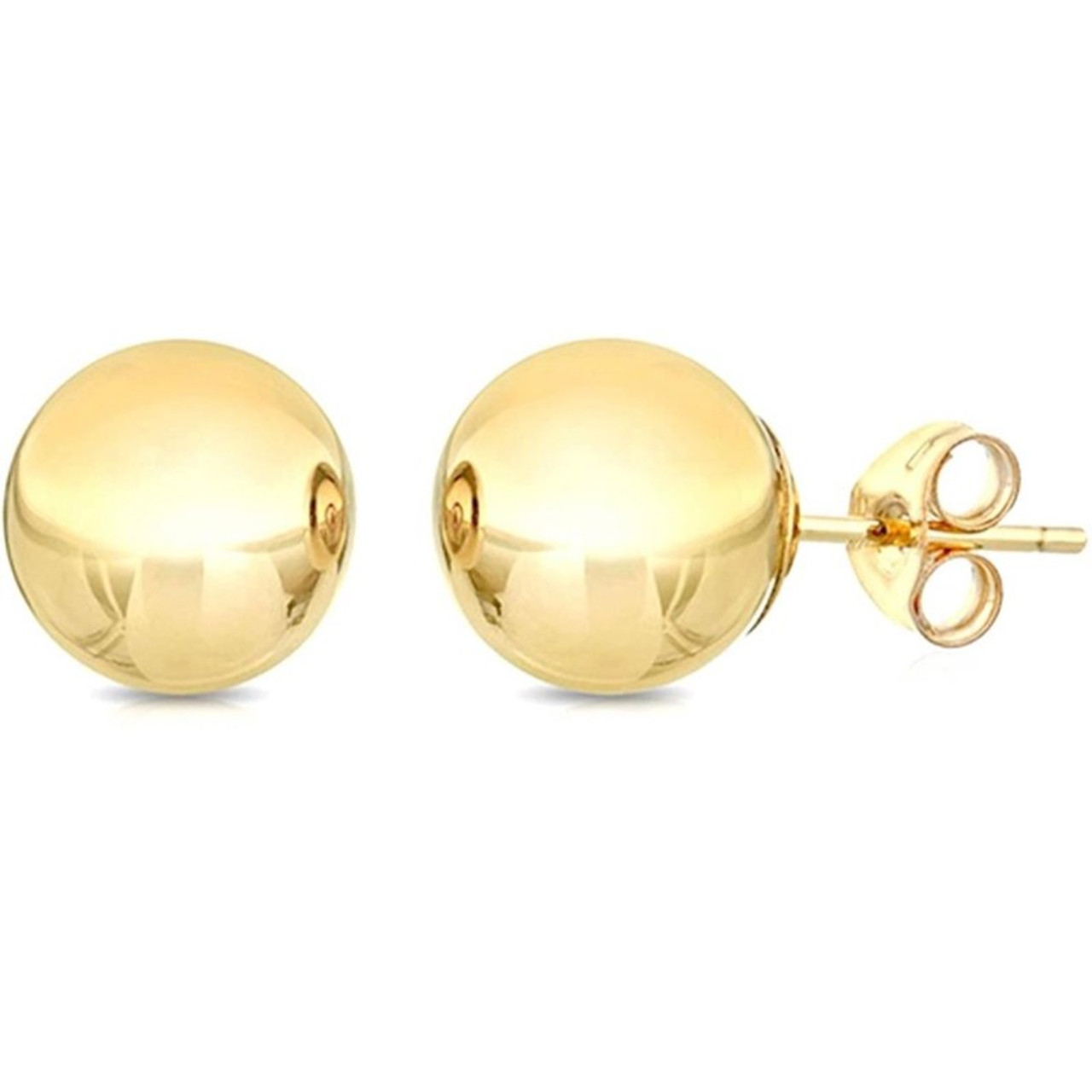 Solid Sterling Silver Ball Studs Earrings