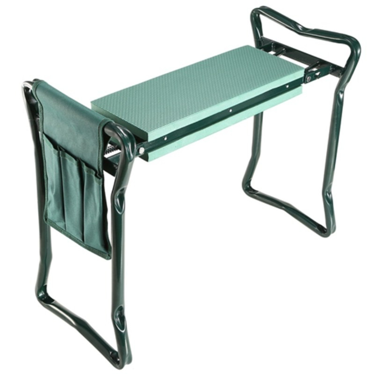 Foldable Garden Kneeler Seat, EVA Padded Bench, Stool with Tool Pouch