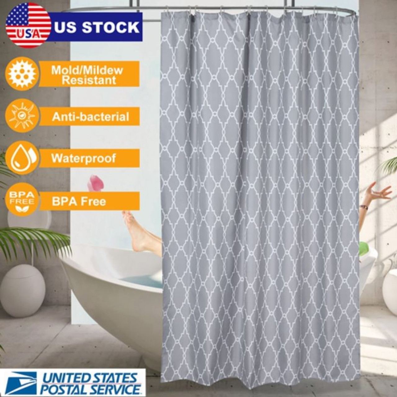 Waterproof Polyester Shower Curtain - 70x70