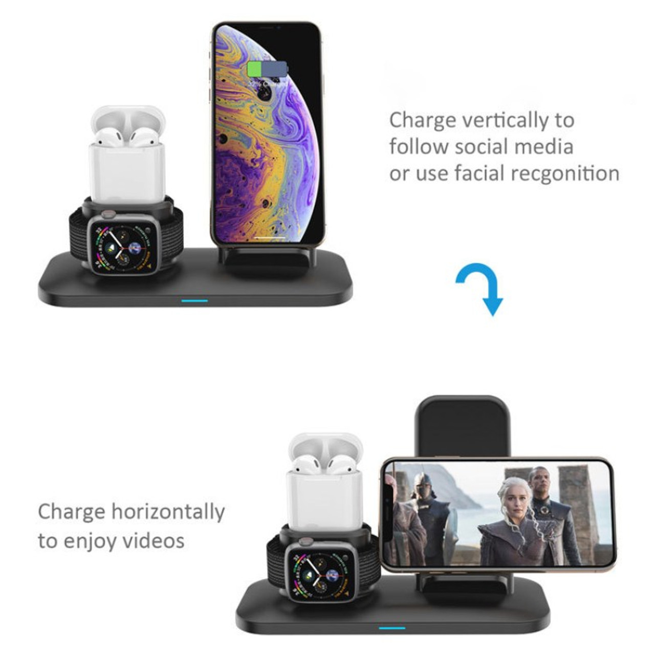 3 In 1 Wireless Fast Charge Station