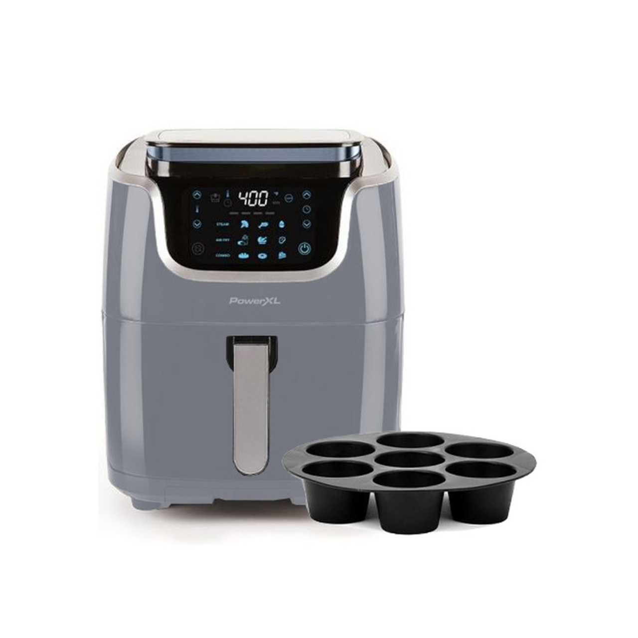 PowerXL 7qt 10-in-1 1700W Air Fryer Steamer with Muffin Pan