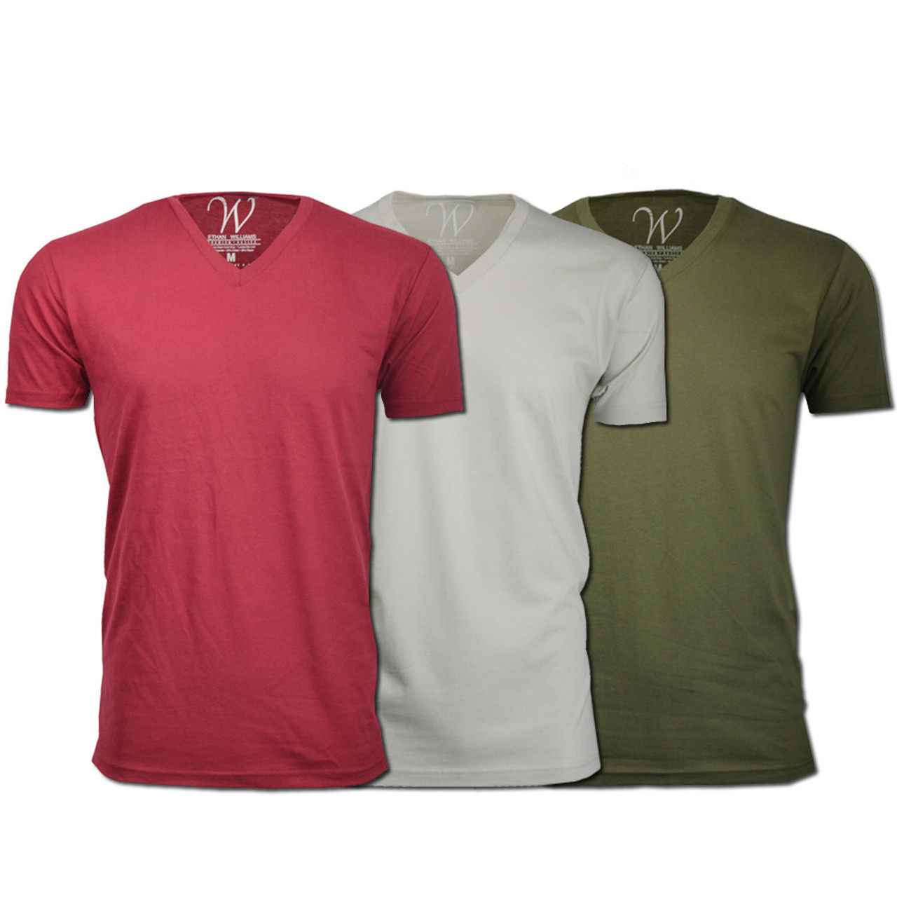 Men's Ethan Williams 3-Pack Sueded V-Neck T-shirts