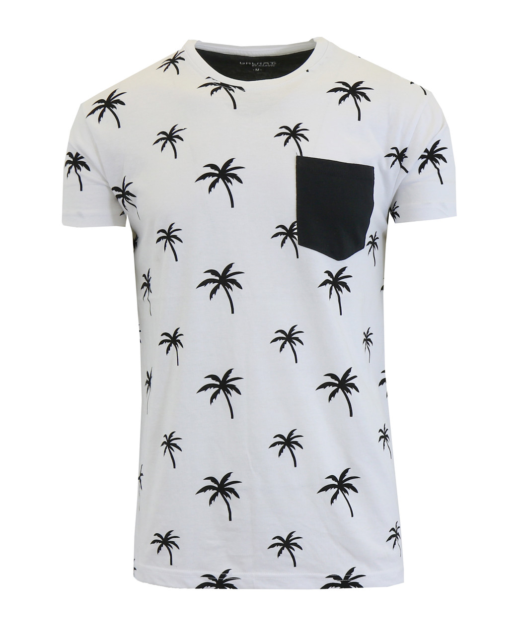 Men's Short Sleeve Printed Tees With Chest Pocket