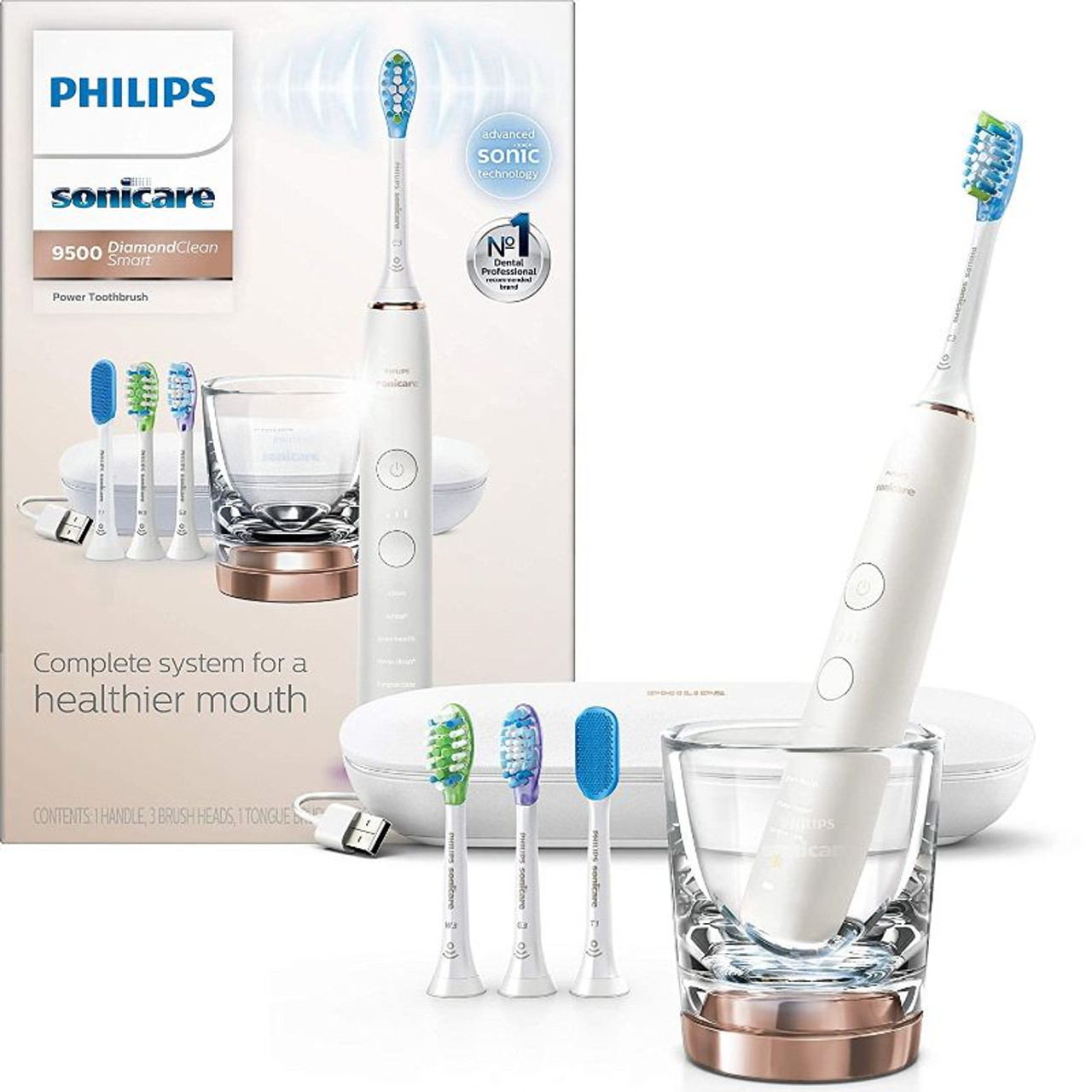 Philips Sonicare Diamond Clean Smart 9500 Rechargeable Electric Toothbrush