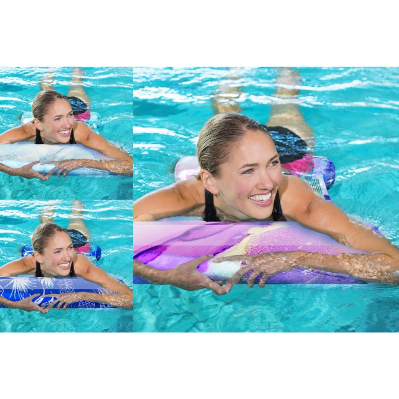 Galvanox Swimming Inflatable Pool Hammock Lounger Floatie for Adults