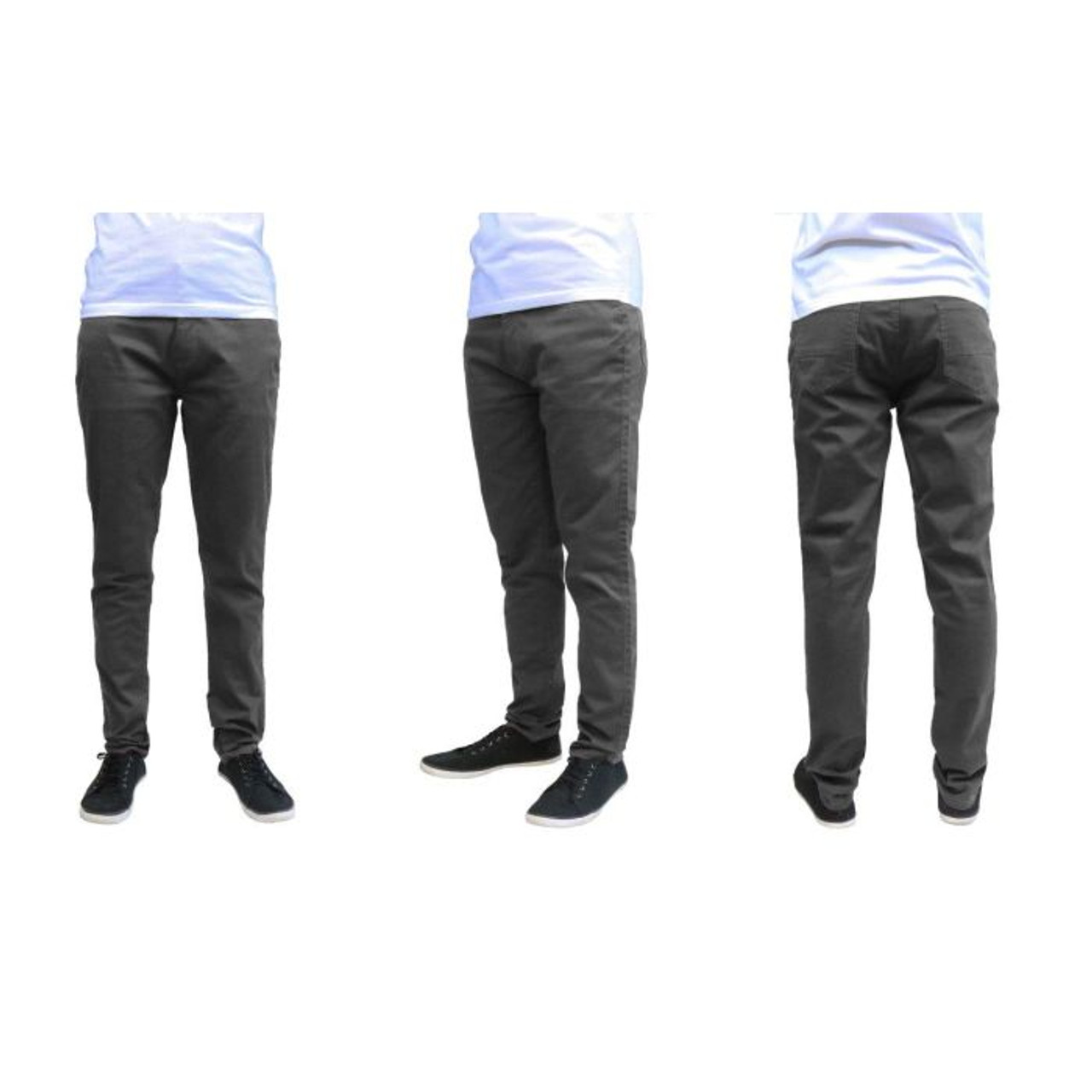 Men's Galaxy By Harvic Slim Fit Cotton Stretch Chino Pants
