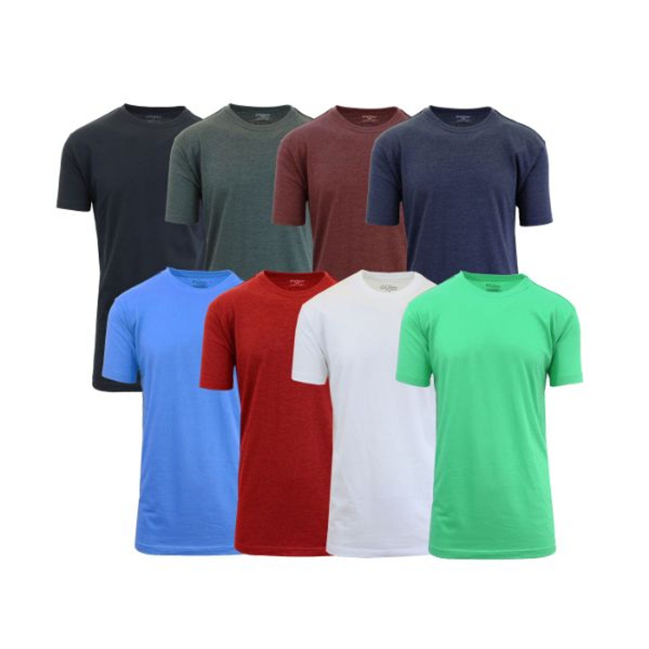 [8-Pack] Men's Crew-Neck Fitted T-Shirt