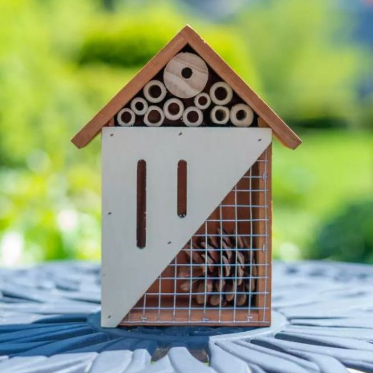 Bug Bungalow - Bee and Butterfly Wooden Insect Home - 1, 2 or 3 Pack