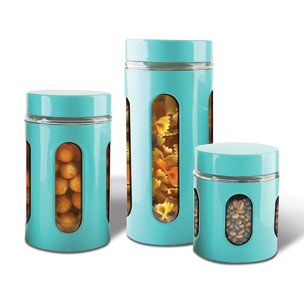 Air tight Food Containers Stainless Steel - 3 Piece Set
