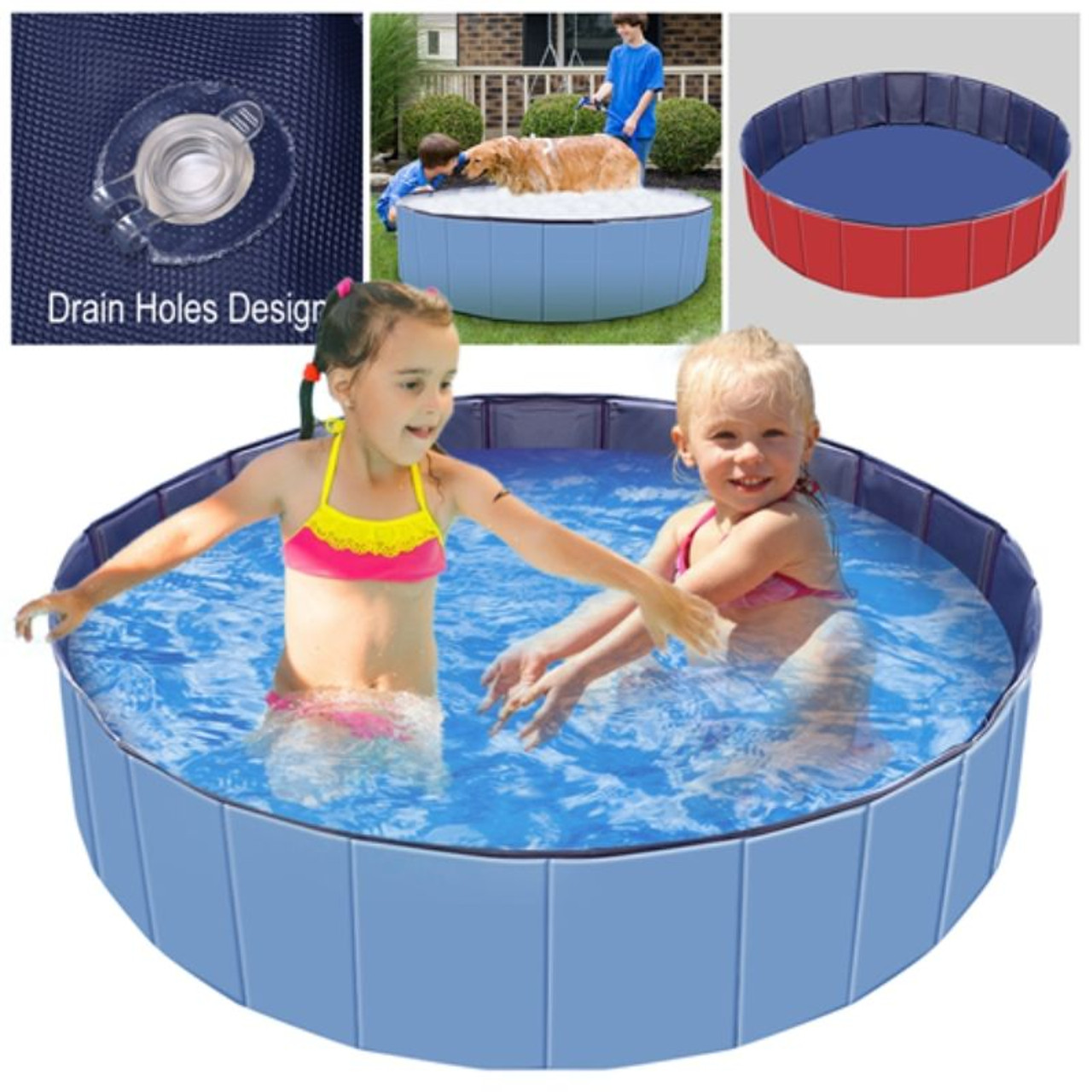 Foldable Pet Bathing and Cooling Swimming Pool
