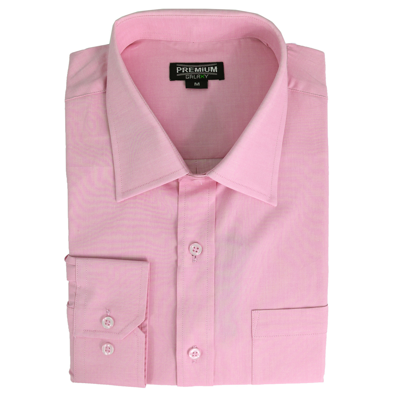 Men's Solid or Striped Long Sleeve Dress Shirt