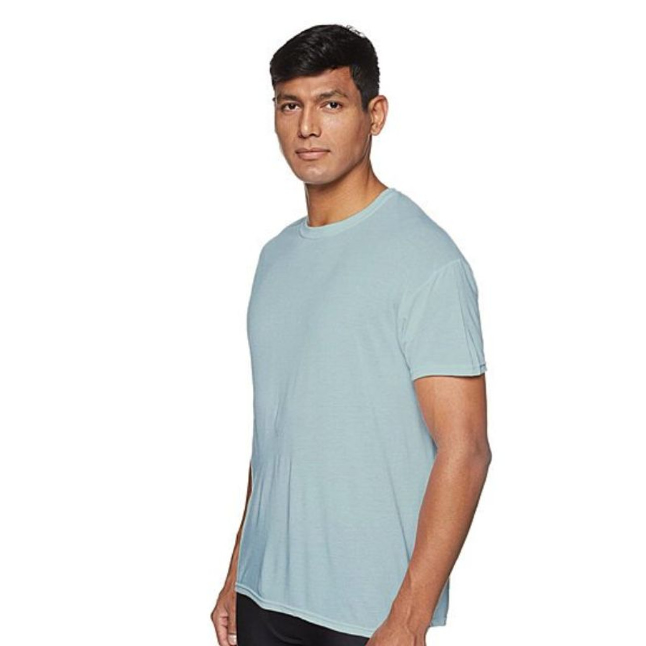 Men's Laviva Active Moisture Wicking Dry Fit Crew Neck Shirts - 5 Pack