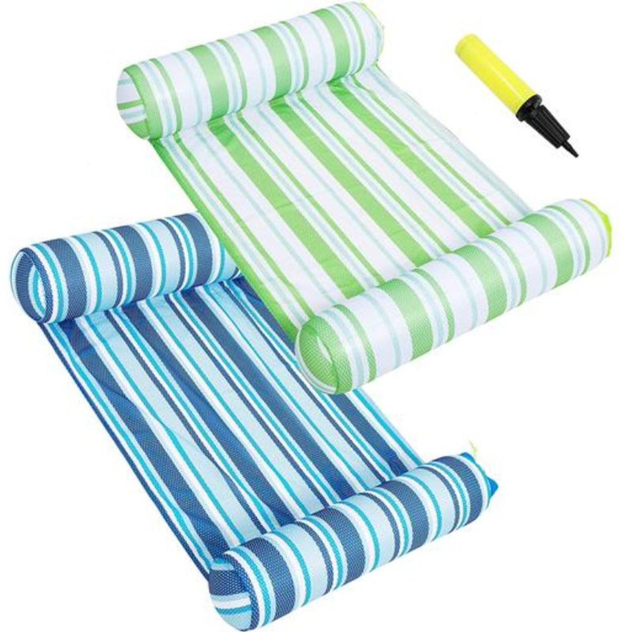 Inflatable Hammock Pool Lounger - 2 Pack