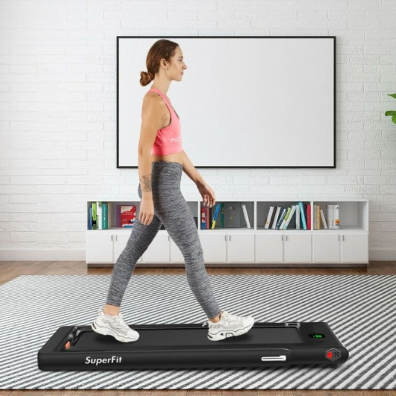 2.25HP Under Desk Electric Folding Treadmil with Bluetooth Speaker and LED Display