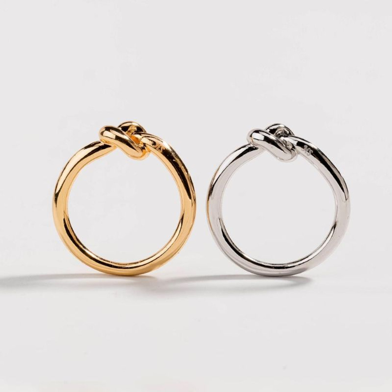 Women's Dainty Love Knot Ring Commitment Ring