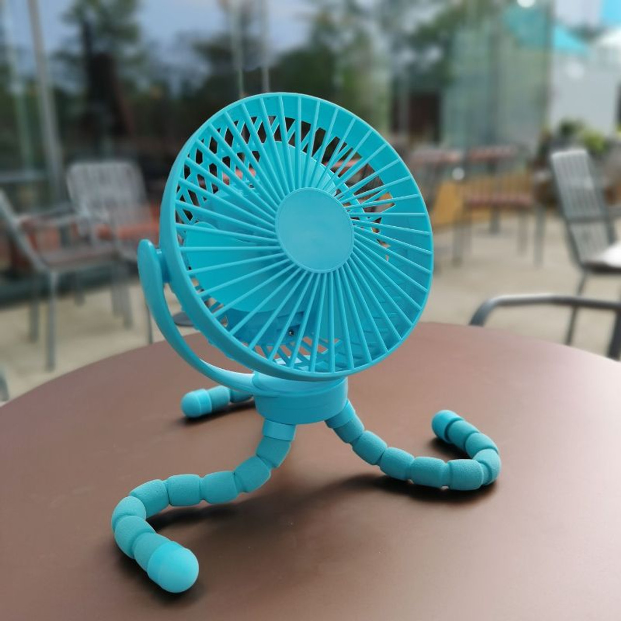 The Octopus Adjustable Arm Fan, Rechargeable, Cordless