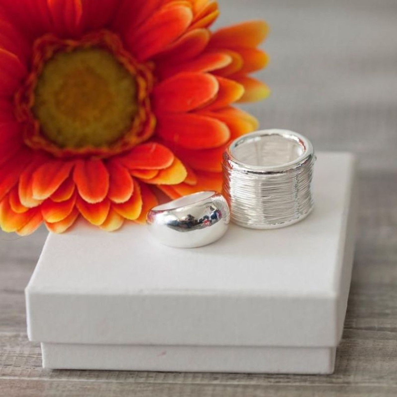 Sterling Silver Plated Statement Rings For Women