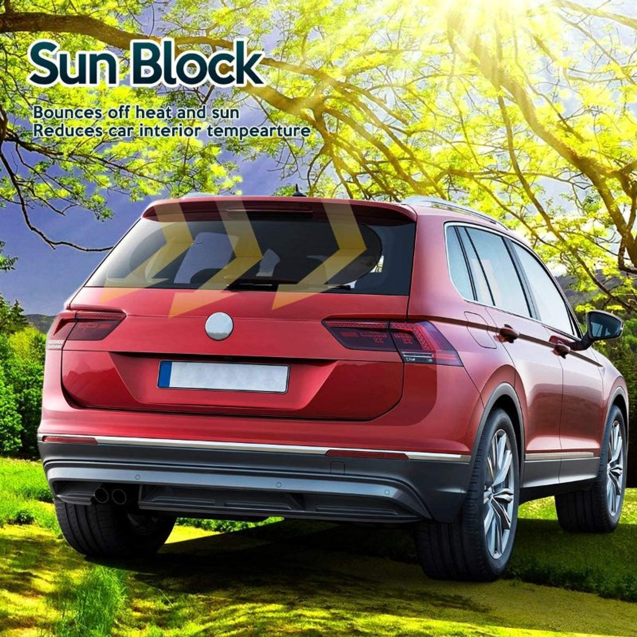 Universal Car Sun Cling On Shade-No Suction Cups Needed