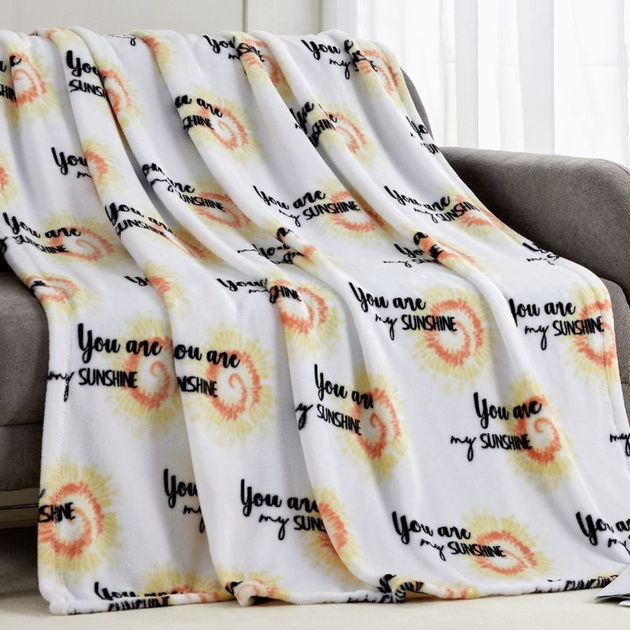 """50"""" x 70""""  Extra Soft Throw Blanket - You Are My Sunshine"""