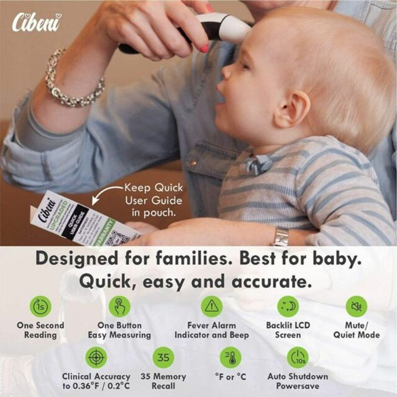Multi-functional Digital Infrared Forehead and Ear Thermometer