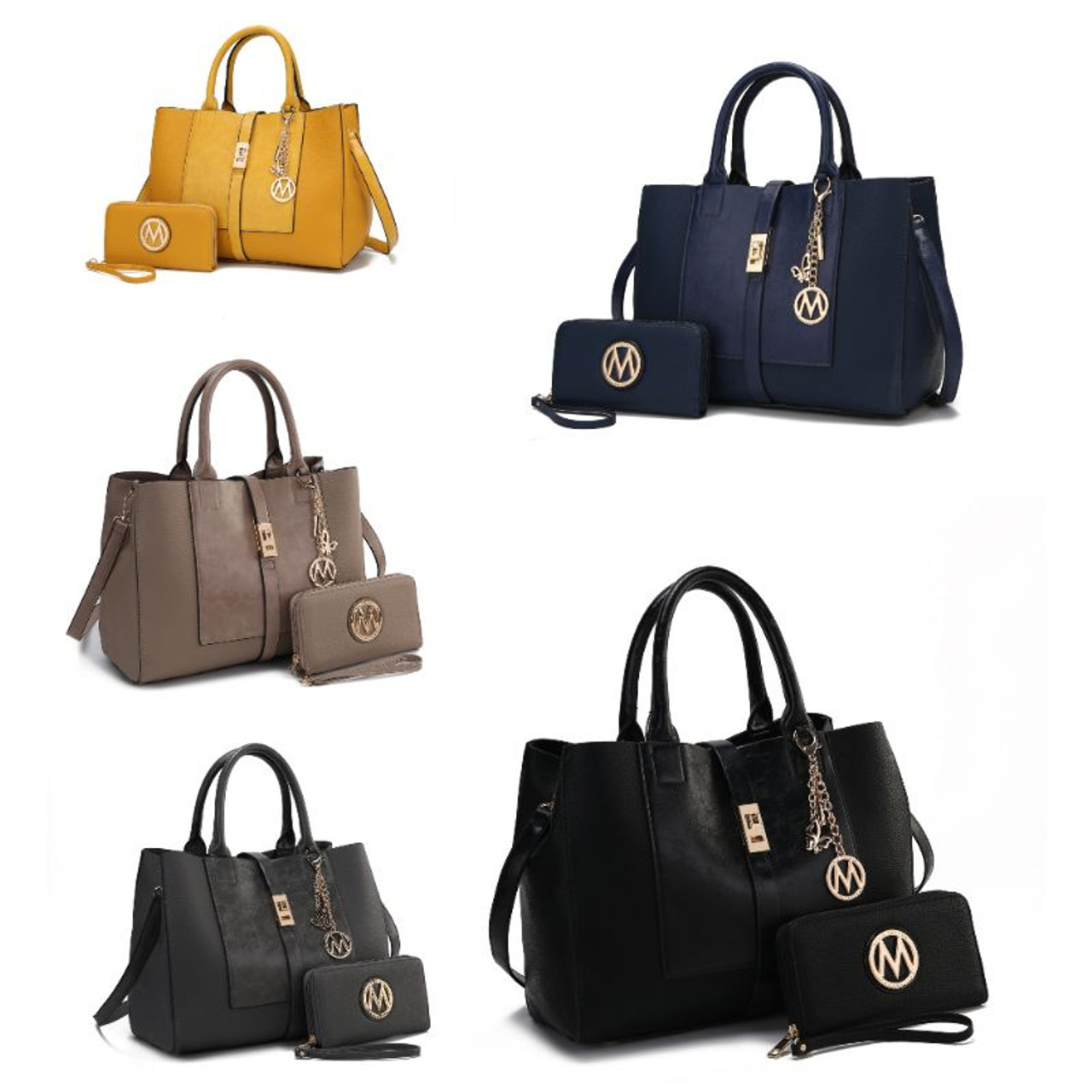 MKF Collection Yola Satchel Bag With Matching Wallet