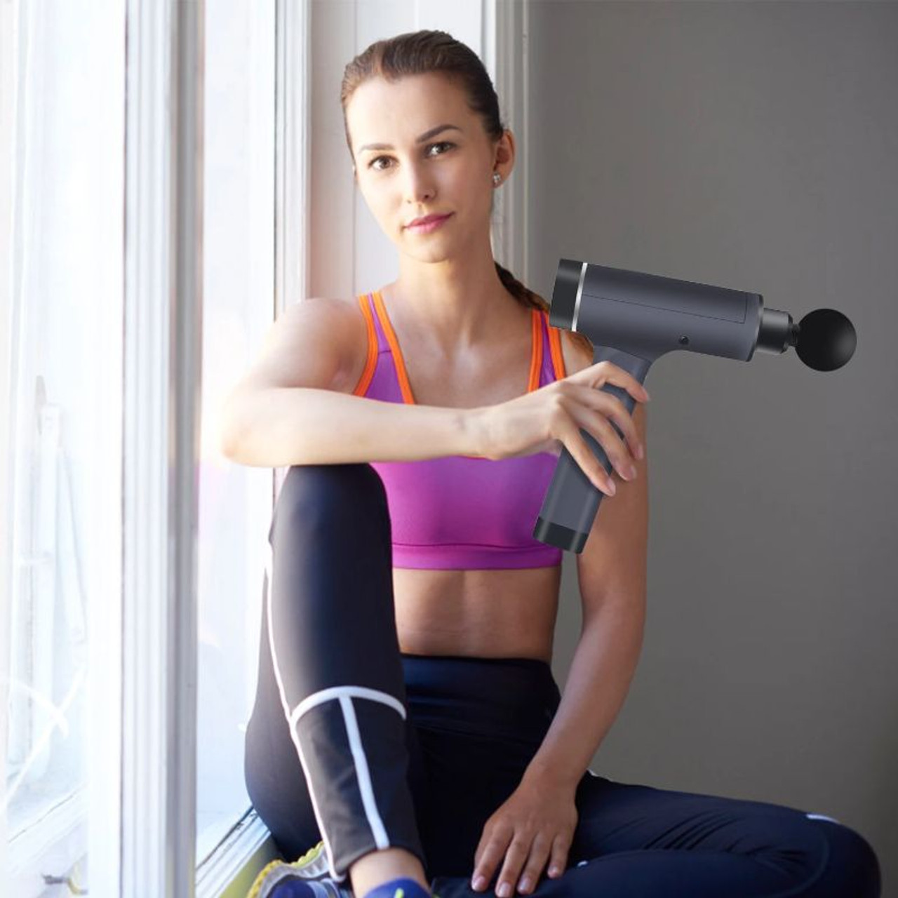 Deep Tissue Electric Handheld Percussion Massage Gun with 6 Heads