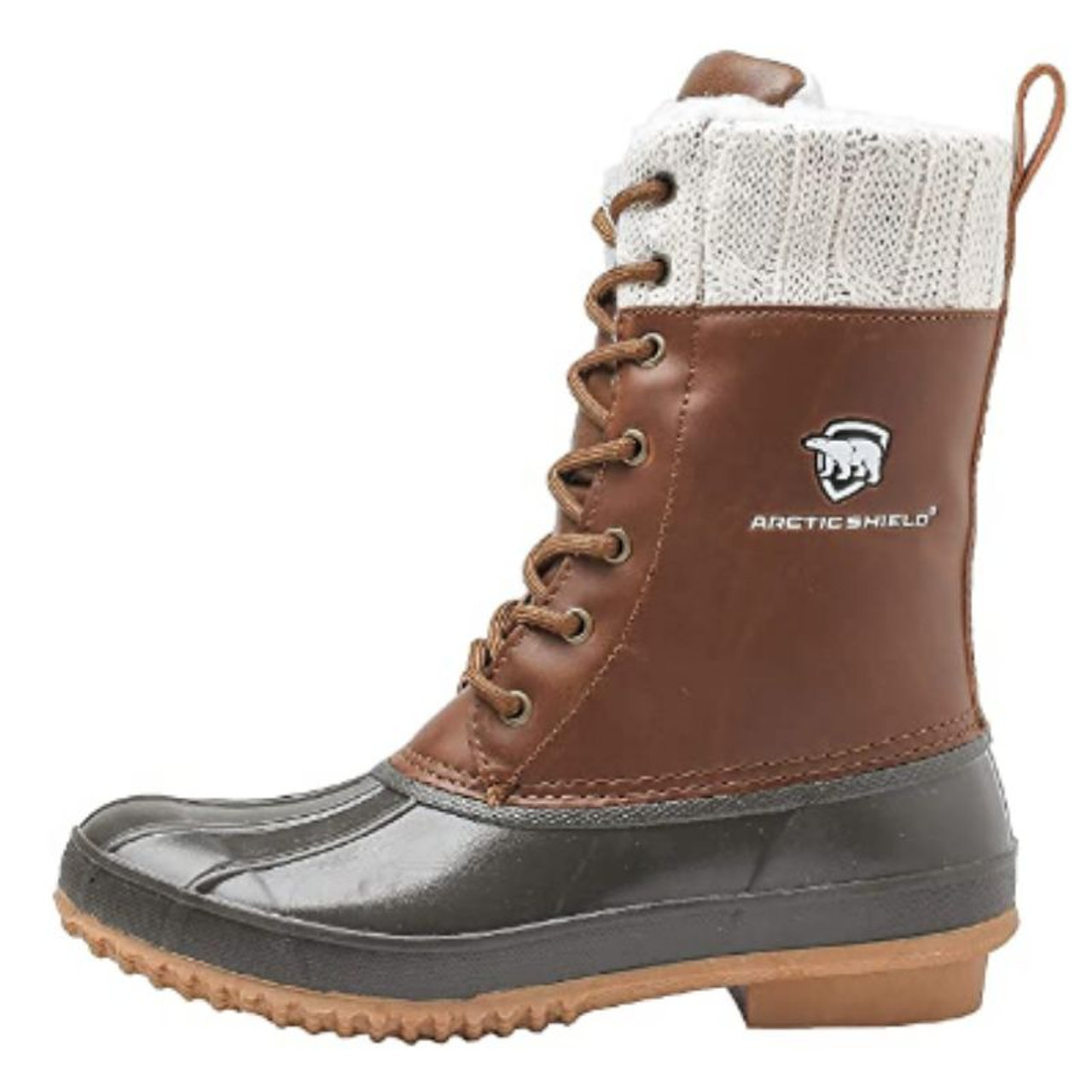 ArcticShield Women's Debra Duck Bean Boots - Waterproof, Insulated, Lace up, for Rain and Snow