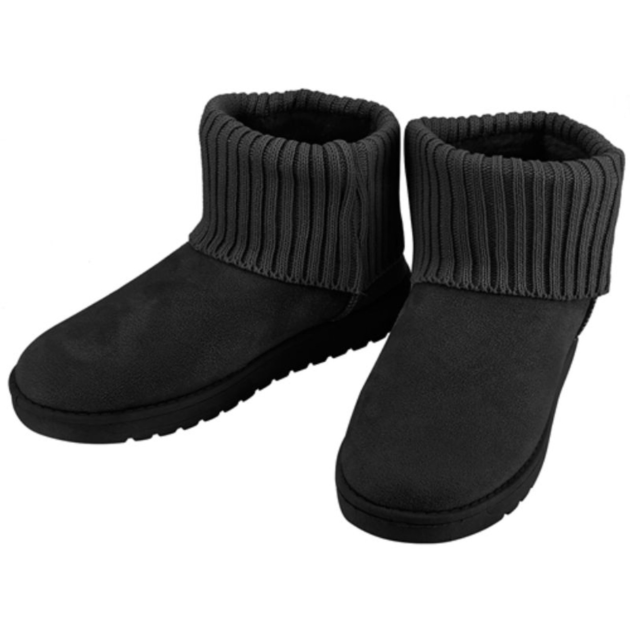 Womens Mid Calf Suede Snow Boots