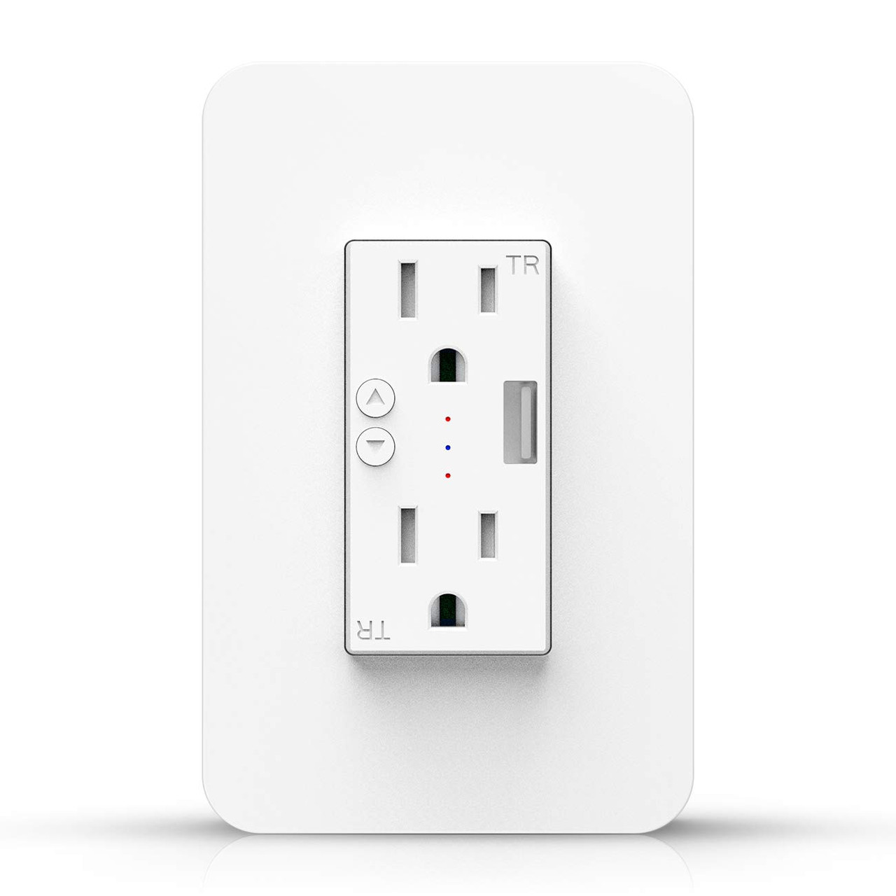 Deco Essentials Smart WiFi Wall Outlet Plug, Compatible with Amazon Alexa and Google Assistant