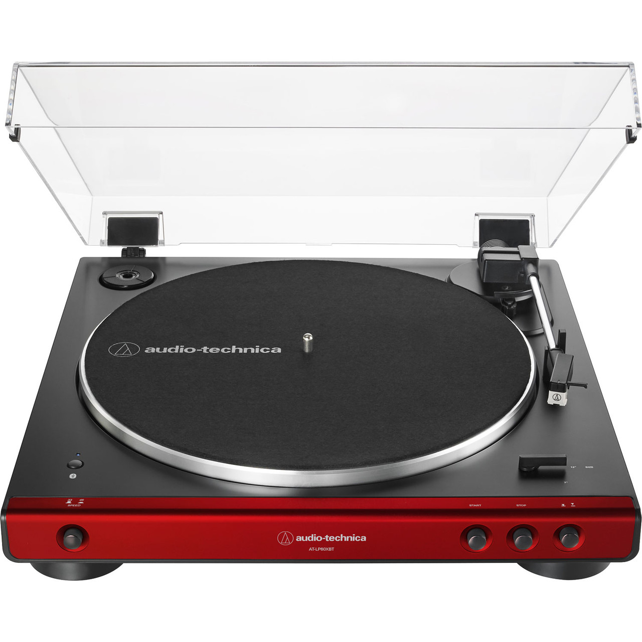 Audio-Technica AT-LP60XBT-RD Fully Automatic Belt-Drive Bluetooth Stereo Turntable, Red/Black