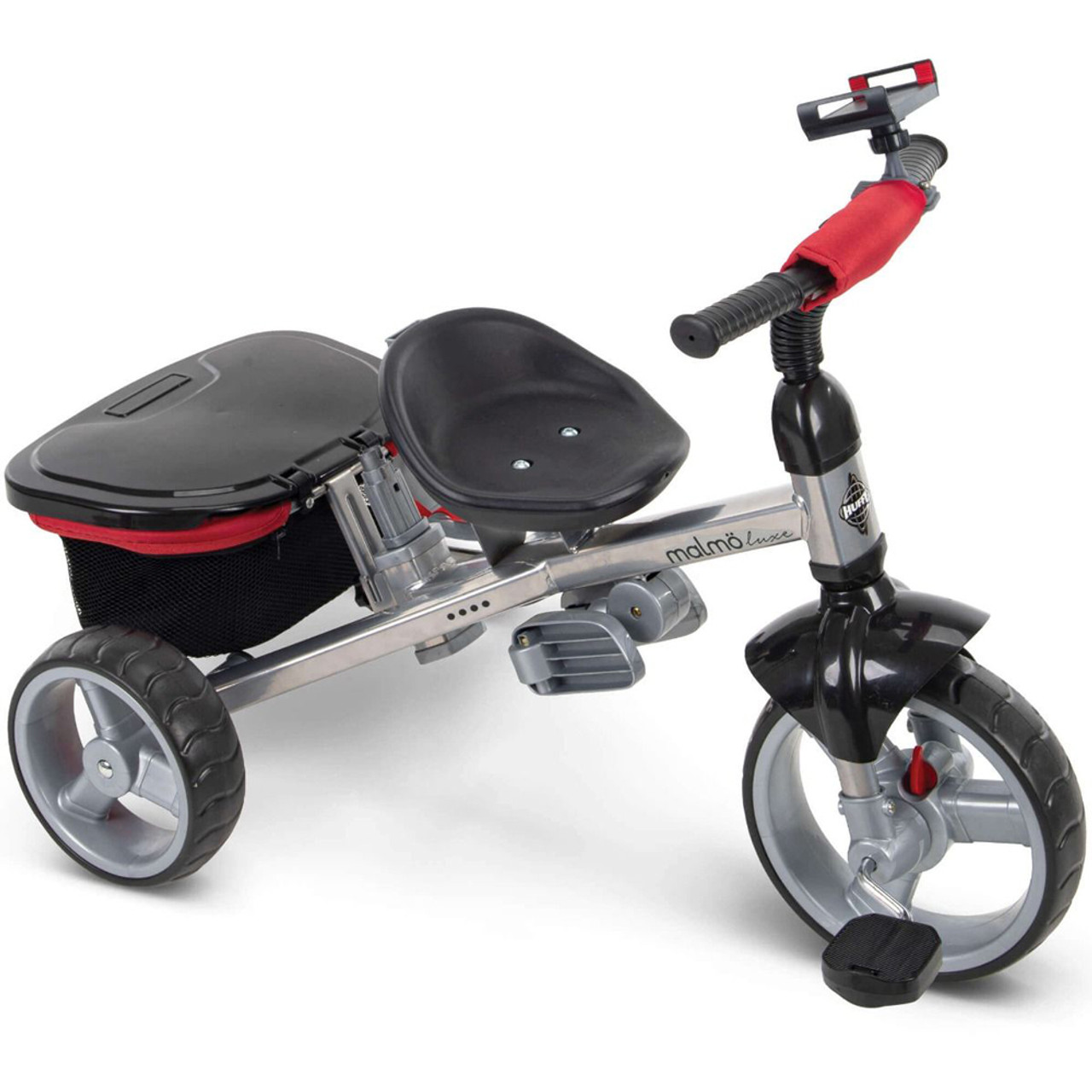 Huffy Malmo Luxe 4-in-1 Canopy Tricycle and Stroller w/ Push Handles for Kids - 29030