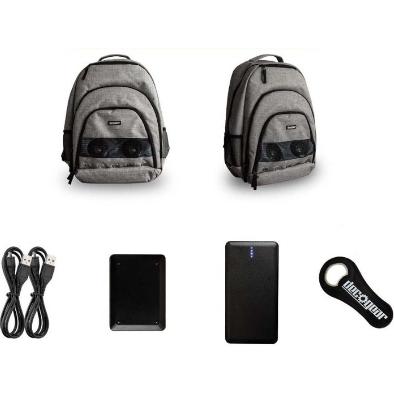 Deco Gear Speaker Backpack with 10,000 mAh Power Bank - Wireless Playback