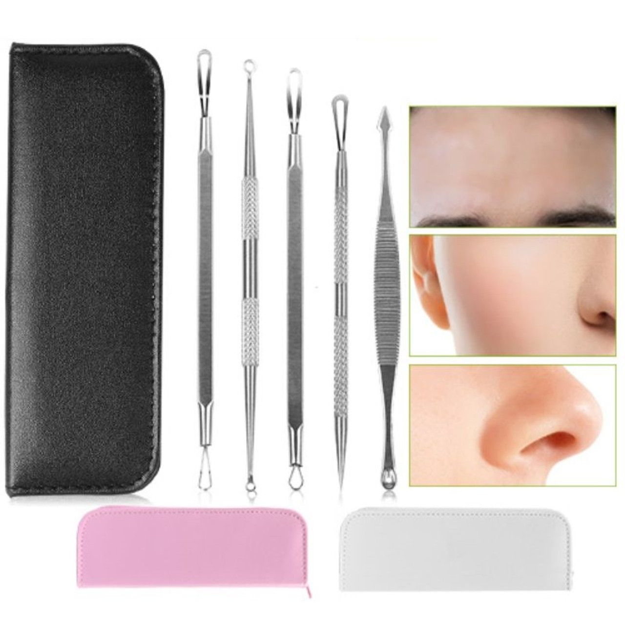 Blemish and Pimple Extractor Tools - 5 Piece Set