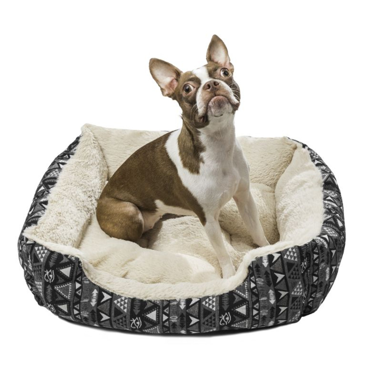 Printed Orthopedic Pet Bed Bolster for Dogs and Cats