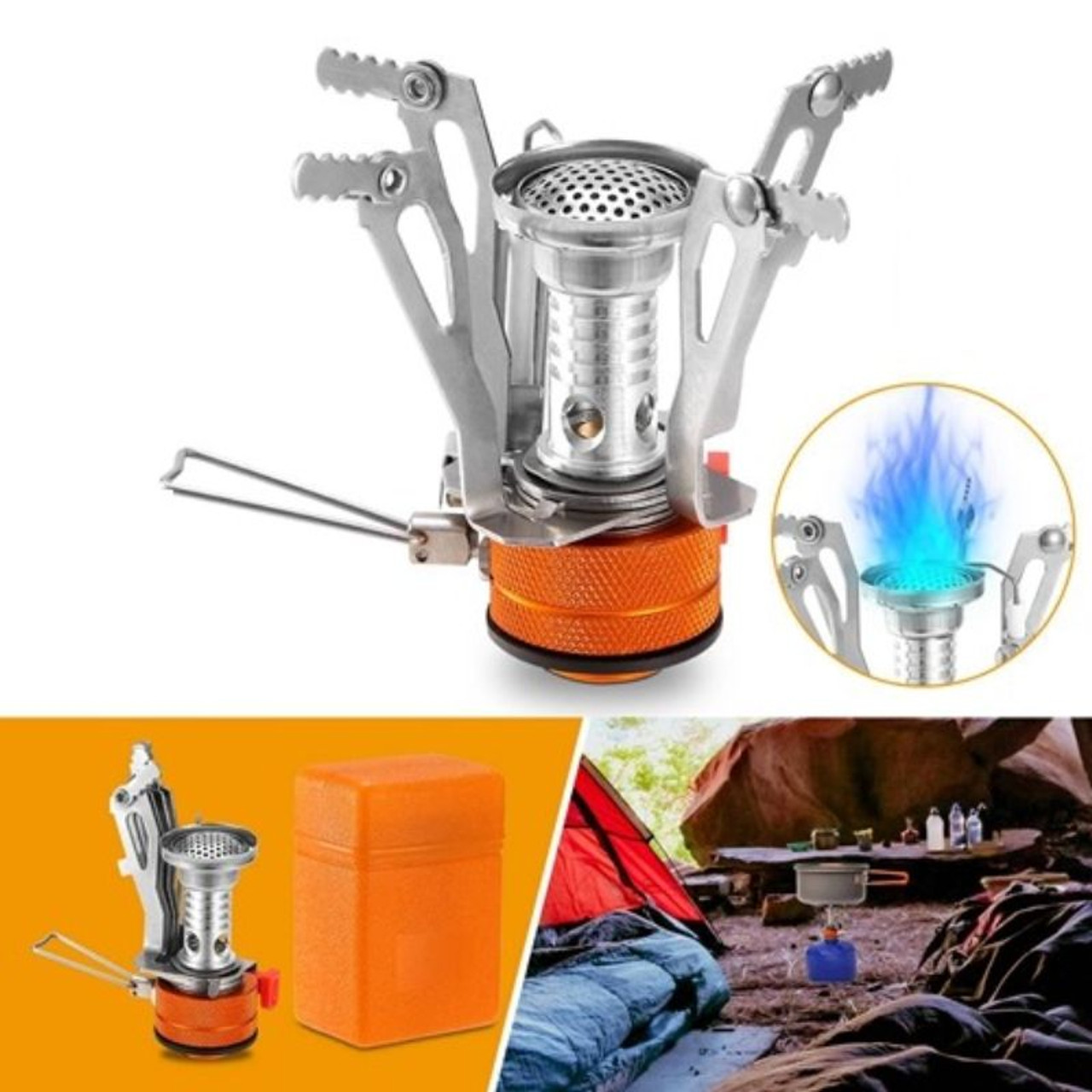 Ultralight Camping Stove, Portable Hiking Stove, Piezo Ignition