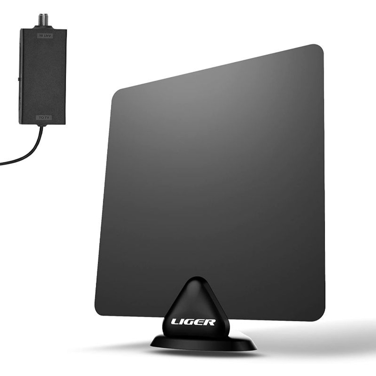 Liger HDTV Antenna and Amplifier, Ultra-Thin Indoor Antenna and Amplifier