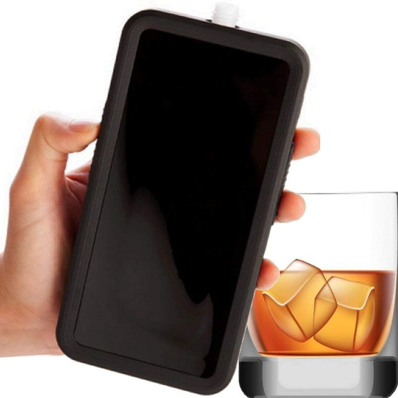 Phone Flask Liquid Drink Booze Container 3.5oz - 2 Pack