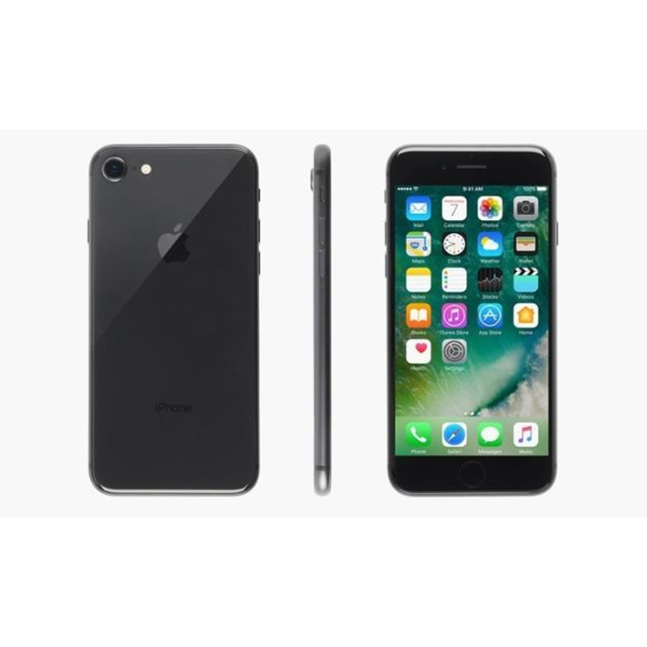 Apple iPhone 8/8 Plus (GSM Unlocked) with MFi-Certified Lightning Cable and Generic Power Adapter