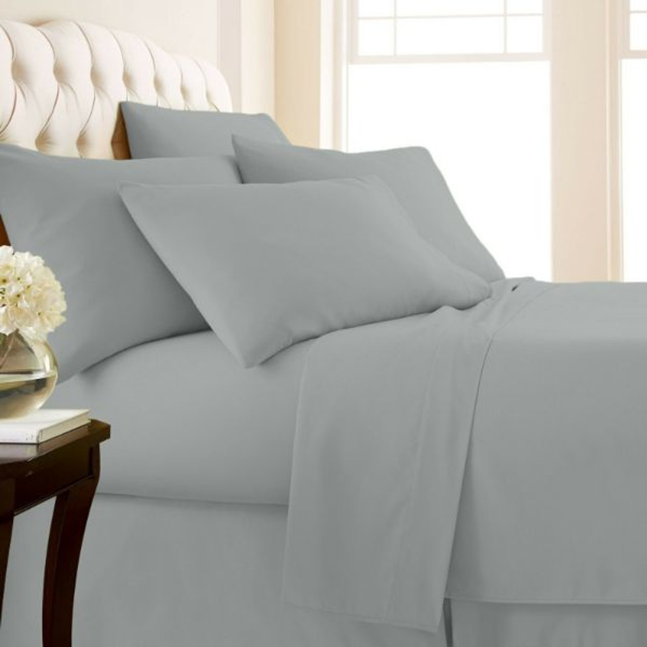 4-Piece: Luxury Home 1,000 Thread Count Egyptian Cotton Sheet Sets