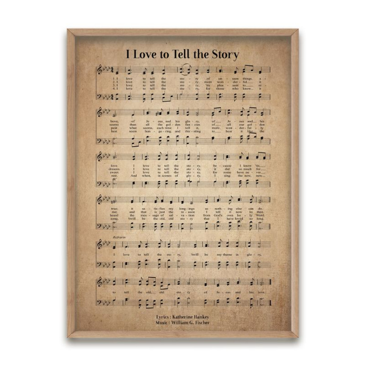 I Love to Tell the Story Hymn Decorative Print