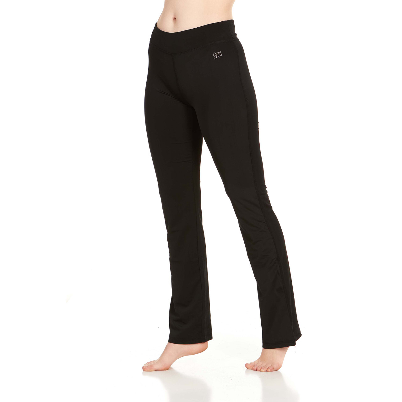 Women's Active Athletic Performance Leggings and Flare Pants - 2 Pack