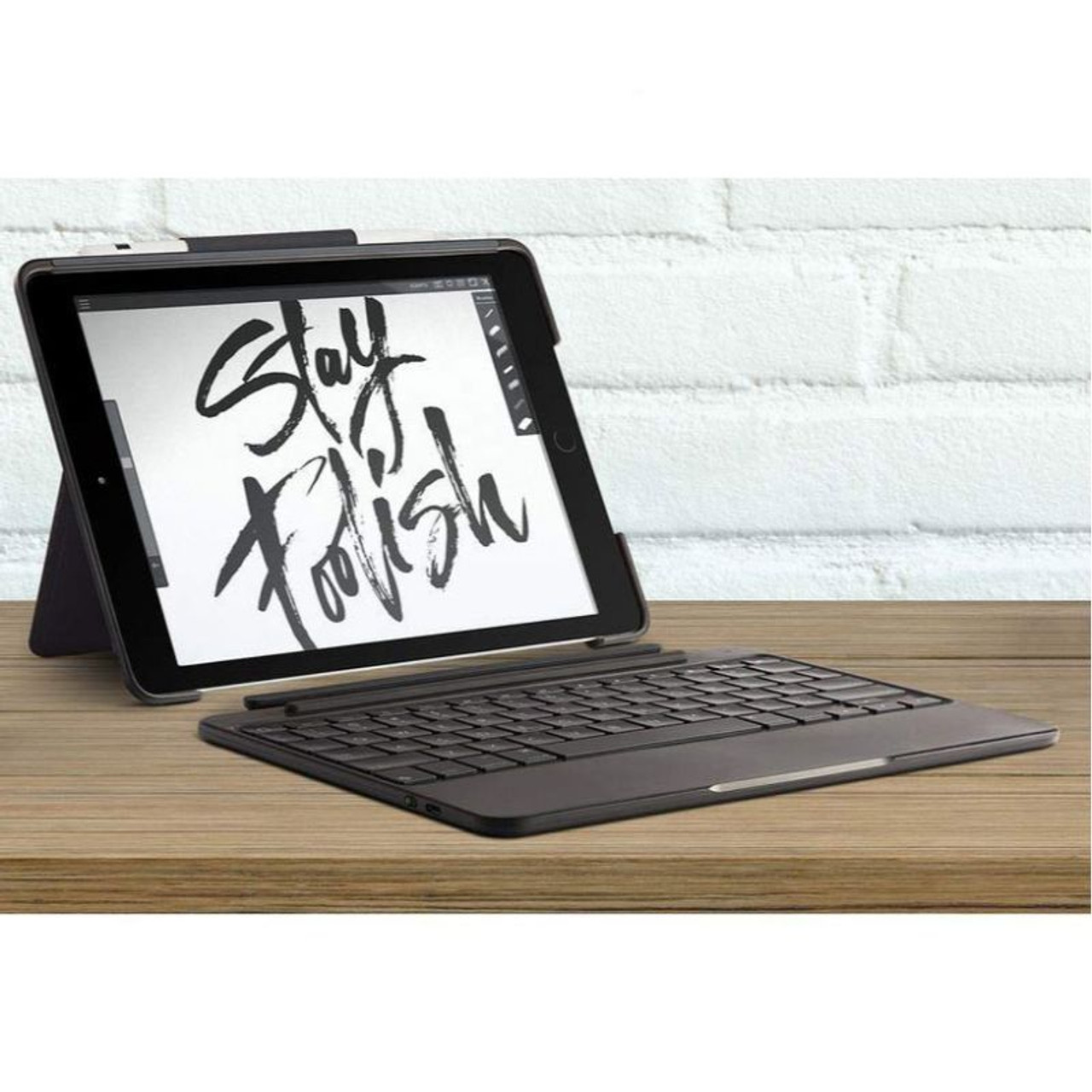 """Logitech Slim Combo Case with Detachable Backlit Bluetooth Keyboard for iPad 9.7"""" (5th & 6th Generation)"""